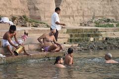 Varanasi, bathing and swimming in the Ganges (3) (walterkolkma) Tags: varanasi india ganges ganga swimming bathing streetphotography hinduism nikond5500