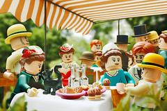 The Luncheon of the Boating Party (Young's Lego) Tags: the luncheon boating party lego legography photo photography painting