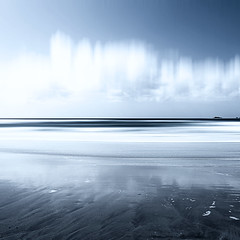 Treyarnon Blue (Bruus UK) Tags: cornwall padstow atlantic blue reflection seascape marine coast clouds beach sand sea shore surf alone sky tide nature purity blur treyarnon