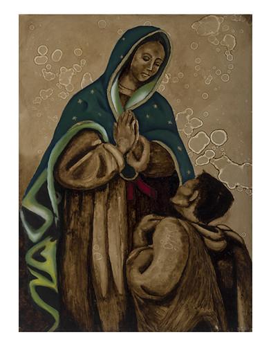 Autor: RAUL ORTIZ CARRILLO, Virgen de Guadalupe  70x50 cm
