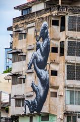Street Art Thai style (21mapple) Tags: streetart street art thai thailand bangkok elephant grafitti