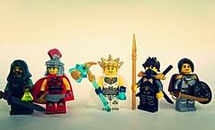 Fantasy Heroes Figbarf (slight.of.brick) Tags: fantasy figbarf minifig lego soldier priestess rogue wanderer ranger