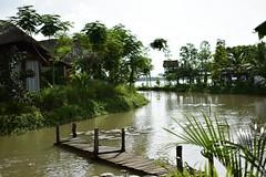 Back to hometown (hungthunder) Tags: monkeybridge cantho hometown morning lake bridge smallship