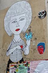 Fred le Chevalier + Lazslo_5602 rue du Faubourg du Temple Paris 11 (meuh1246) Tags: streetart paris fredlechevalier lazslo ruedufaubourgdutemple paris11 crâne
