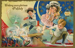 Wishing You a Glorious Fourth of July (Alan Mays) Tags: ephemera postcards greetingcards greetings cards paper printed independenceday fourthofjuly 4thofjuly july4 july4th 4th fourth holidays patriotic stars stripes children boys girls clothes clothing hats fireworks firecrackers toys cannons soldiers toysoldiers firing explosions noises loud loudness holdingears dangerous illustrations borders red white blue gold 1911 1910s antique old vintage typefaces type typography fonts fourthofjulyseries fourthofjulyseriesno5 seriesno5 postcardseries