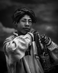 Titicaca Lake - Peru (Roberto Farina Travel Photography) Tags: perù andes boy southamerica boatman blackwithe portrait people puno titicaca