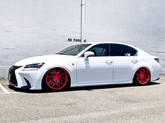 Lexus GS350 w/ Custom Red Ace Alloy Driven (ACEALLOYWHEEL/AMF FORGED) Tags: lexus gs350 gs ace acealloywheel acealloy airride acewheels driven directional directionalwheels truedirectional 20 inch wheels aftermarket slammed lowered jdm import luxury sedan hawaii