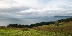 karitane-6885-ps-w (pw-pix) Tags: panorama landscape coast coastal green grey cloudy overcast clouds sky hills rolling grass weeds plants trees shrubs puketerakilookout coastroad karitane dunedin centraleastcoast otago southisland nz newzealand