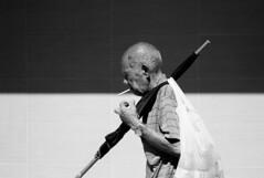 Oldman with his Cigarette, Kowloon City, Hong Kong (Job Homeless) Tags: people portrait blackandwhite bw streetsnap streetphotography leica life living monochorme monotone m8 summicronm35mmf2asph