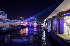 VIVID 2017 Vivid Sydney Harbour ferry bridge