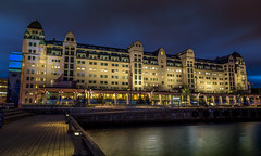 Havnelageret (Ajnaraja) Tags: havnelageret oslo panorama longexposure hdr architecture turist night ef2470mmf28lusm norway scandinavia water eos 6d sky