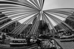 Obsessed for the lines. (Christian S. Mata) Tags: leading lines black white nikon fisheye rokinon 8mm santo domingo mexico sky