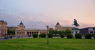 Vienna / Heldenplatz / Sunset