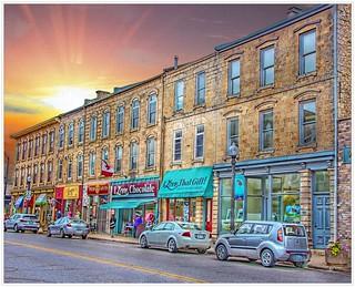 Fergus Ontario Canada ~ HIstoric Buildings on Main Strip