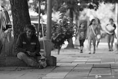 Vecino (KikoBlasco) Tags: villa crespo buenos aires argentina barrio hood vine vino block black white man hombre