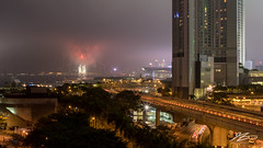 Not Much Of A Party (Tim van Zundert) Tags: fireworks chinesenewyear celebrations cny night evening longexposure towers building cityscape city hongkong hongkongisland china sony a7r zeiss 55mm sel55f18z