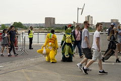 Feeling the heat (jamiethompson01) Tags: comic con 2017 london excel dlr movies marvel video games pop culture batman spiderman star wars mcm multigenre fan convention bank holiday street candid martin parr british uk england people event day