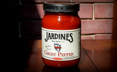 (timetomakethepasta) Tags: jardines ghost pepper salsa xxx hot spicy heat tasty glass jar sunshine photography new york quality small batch simply natural gluten free