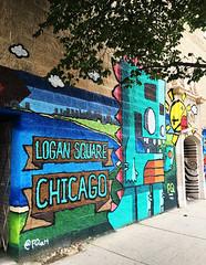 Logan Square by FQArt (wiredforlego) Tags: graffiti mural streetart urbanart publicart aerosolart logansquare chicago illinois ord fqart dinosaur