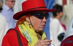 Red (My Best Images) Tags: red lady sunglasses smoking badge redhair nailvarnish nailpolish borgaloppbana scarf sunny