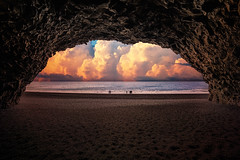 Shore (marc.sharp) Tags: vikimyrdal iceland is horizon colorful landscape cave nature water beach moody epic seascape ocean clouds