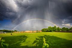 Age of Aquarius (Kansas Poetry (Patrick)) Tags: rainbow doublerainbow kansas storm stormclouds thunderstorm hail patrickemerson patricknancy