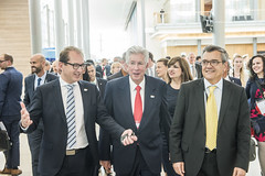 Alexander Dobrindt, Gerardo Ruíz Espárza and José Viegas visiting the exhibition