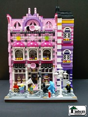 Cupcake Shop 001 (Hudson's Workshop) Tags: lego modular cupcake shop friends building city