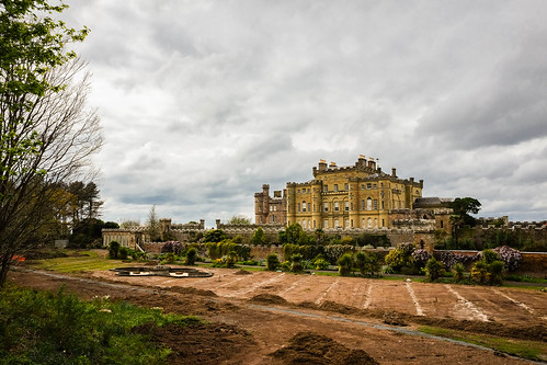 Culzean Castle - the gardens being restored