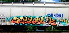 cellblok (timetomakethepasta) Tags: cellblok freight train graffiti art 1995 grainer oil dri odtx krylon benching selkirk new york photography