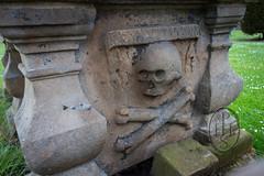 John Blackadder Covenanter Preacher Tomb with a restricted view North Berwick Parish Kirkyard 1 of 5 (PHH Sykes) Tags: reverend john blackadder covenanter north berwick parish kirkyard scotland grave skull crossbones angel book mementomori