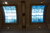 Stained glass skylights at the Gyptotek (quinet) Tags: 2017 copenhagen glasmalerei glyptotek museum stainedglass statue vitrail zealand denmark