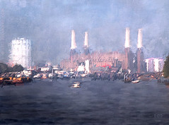 The River Thames At Battersea (sbox) Tags: thames london river water battersea powerstation impressionist impressionistic painting digitalpainting declanod landscape sbox