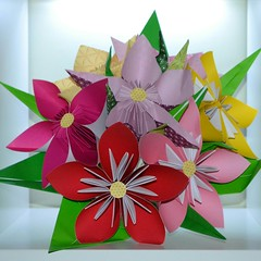 Origami flowers (Nick_O_Gami) Tags: origami folding paper paperfolding paperart art flowers kusudama