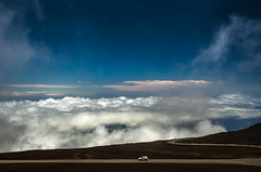 Driving over the clouds (Rabican7) Tags: hawaii hi maui mountain cloudscape driving volcano clouds travelling