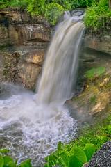 Minnehaha Falls (Doug Wallick) Tags: minneapolis minnesota minnehaha falls water waterfall rain rainfall flow raging mist park city urban