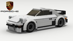 Porsche 911 Turbo (new) (Tom.Netherton1) Tags: porsche 911 turbo 930 1970s 1980s classic vintage german germany vw race racer power lego ldd legos digital designer city pov povray speed speedster supercar super car cars vehicle