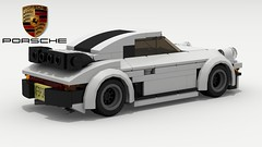 Porsche 911 Turbo (new) (rear view) (Tom.Netherton1) Tags: porsche 911 turbo 930 1970s 1980s classic vintage german germany vw race racer power lego ldd legos digital designer city pov povray speed speedster supercar super car cars vehicle