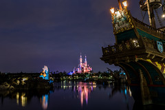 Blue Hour (Jared Beaney) Tags: canon shanghai shanghaidisneyland shanghaidisneylandphotographer shanghaidisneylandphotography shanghaidisneyresort canon6d asia china disney disneythemeparks disneyparks themeparks nightphotography nightlandscapes nightreflections bluehour bluehourphotography treasurecove pirateship