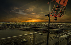 Over the Edge (Explored 23-5-2017) (mcalma68) Tags: amsterdam adamtower swing tourism