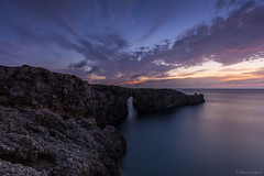Menorca Sunset II. (dasanes77) Tags: canoneos6d canonef1635mmf4lisusm tripod landscape seascape cloudscape waterscape ocean sea clouds longexposure horizon sunset bluehour magiclight colors rocks reflections shadows menorca pontdengil cliff calm summer