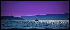 Moonlight Serenade (Rollingstone1) Tags: moonlight serenade boat sea sky purple hills coast coastline marine maritime sailing sail yacht water sparkling blue romantic gourock scotland greenock