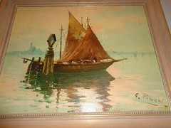 Gustavo Pisani , German art auction from Cservari Art Collection June 30 , 2017 (samcservari1) Tags: gustavo pisani italian painter cservari sam collection napoli napoly sailboat sail boat sailing master painting old antique seascape