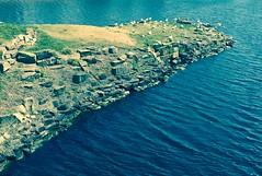 Rambling round a rocky outcrop (journo_bouy) Tags: sea grass rocky ducks seagulls birds landscape island rock