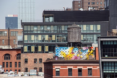 Water Tower Diva (WalrusTexas) Tags: watertower manhattan chelsea nyc mural graffiti