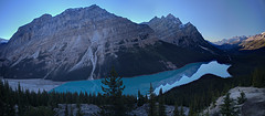 Peyto Lake at Sunset (John Payzant) Tags: peyto lake banff park alberta canada hdr panorama