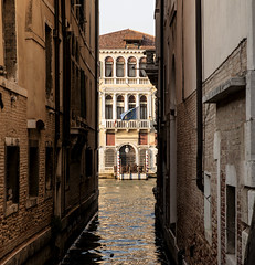 View upon Venice's Canals and Alleys (filippogatteschi) Tags: venice venezia lagoon canal view sight perspective tamron2470 canoneos70d 70d daylight daytime light colorful colorimage colors reflection darks contrast tones bridge sunlight shadows architecture walls windows arches detail sky warmcolors warmth summer