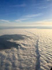 Flying into LA - long cloud (NettyA) Tags: usa travel appleiphone6 california sky clouds viewfromplane sunrise