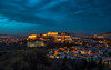 Ten thousand Athens nights 一萬個雅典夜 (kaising_fung) Tags: athens acropolis blues le movement clouds city metropolitant ancient historic ruin restoration