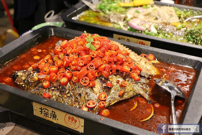 中國大陸人氣烤魚登台探魚台中公益店134